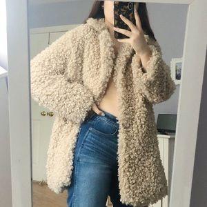 Zara Beige Fur Teddy Coat